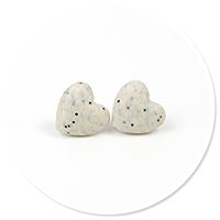 kolczyki kamienne serca nr 2