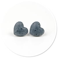 kolczyki kamienne serca nr 3