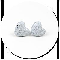 kolczyki kamienne serca nr 4