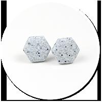 kolczyki kamienne heksy (małe)