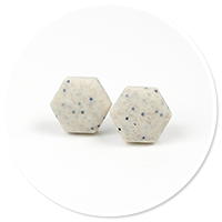 earrings stone hexes (small) no. 3