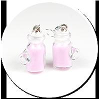 kolczyki koktajl mleczny nr 4