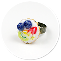pierścionek tarta z owocami