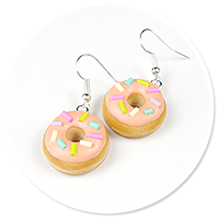 earrings donuts with sprinkles no. 7