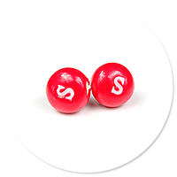plug-in earrings candy Skittles no. 2