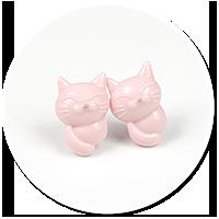 kolczyki wytkane koty nr 11