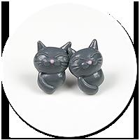 kolczyki wytkane koty nr 2