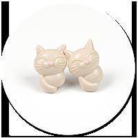 kolczyki wytkane koty nr 4