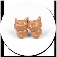 kolczyki wtykane koty nr 5