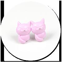 kolczyki wytkane koty nr 8