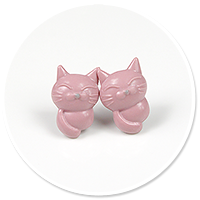 plug-in earrings (cats) no. 9