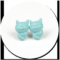 kolczyki wtykane koty nr 10