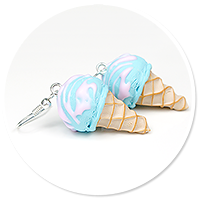 kolczyki lody gałkowe