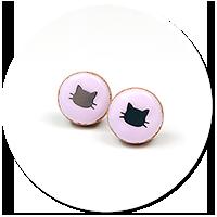 kolczyki wtykane ciasteczka z kotkami nr 2