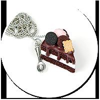 naszyjnik tort czekoladowy nr 8