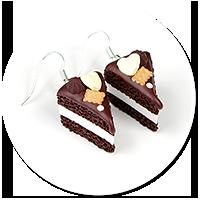 kolczyki torty czekoladowe nr 10