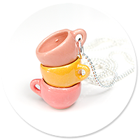 necklace with colorful cups