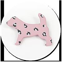 brooch dog leopard no. 2