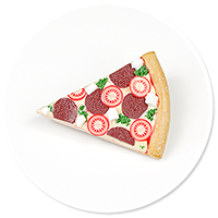 brooch with pizza no. 5