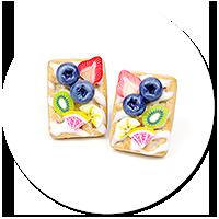 kolczyki wtykane gofry z owocami nr 9
