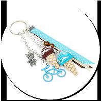 breloczek z lodami i rowerem