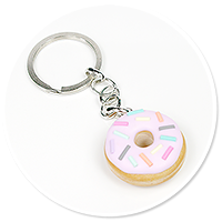 keyring with donut no. 9