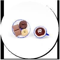 kolczyki wtykane kawa ze słodyczami nr 2