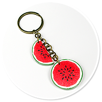 keyring with watermelons