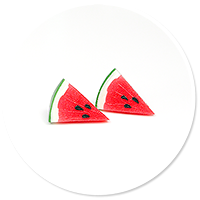 plug-in earrings watermelons size M