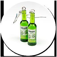 kolczyki butelki z cydrem nr 3
