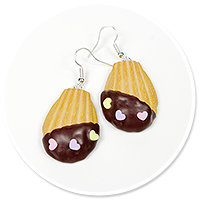 earrings cookie with chocolate no. 2