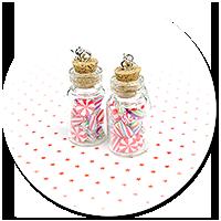 kolczyki świąteczne słoiczki z cukierkami nr 2