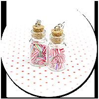 kolczyki świąteczne słoiczki z cukierkami nr 3