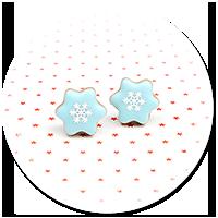 kolczyki wtykane świąteczne ciasteczka nr 6
