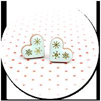 kolczyki wtykane świąteczne ciasteczka nr 19