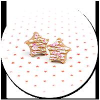 kolczyki wtykane świąteczne ciasteczka