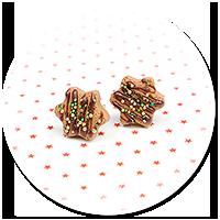 kolczyki wtykane świąteczne ciasteczka nr 23