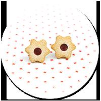 kolczyki wtykane świąteczne ciasteczka nr 25