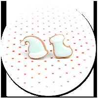 kolczyki wtykane ciasteczka (czapka i skarpeta) nr 2