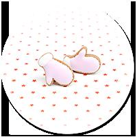 kolczyki wtykane ciasteczka rękawiczki nr 2