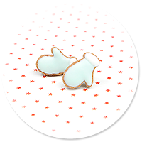 kolczyki wtykane ciasteczka rękawiczki nr 4