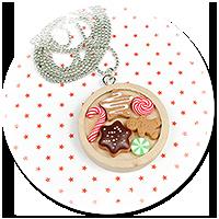 naszyjnik świąteczny ze słodyczami