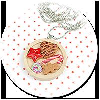 naszyjnik świąteczny ze słodyczami nr 5
