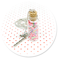 naszyjnik świąteczny słoik z cukierkami
