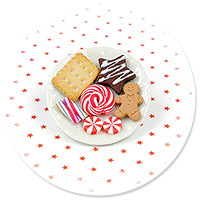 broszka talerzyk z ciastkami nr 9