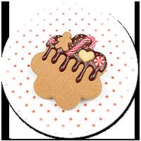 broszka świąteczne ciastko