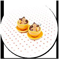 kolczyki świąteczne filiżanki z gorącą czekoladą nr 6