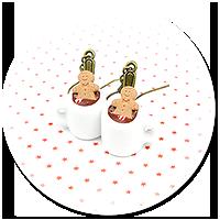 kolczyki świąteczne kubki z gorącą czekoladą nr 2