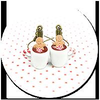 kolczyki świąteczne kubki z gorącą czekoladą nr 4