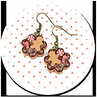 kolczyki świąteczne ciasteczka nr 16